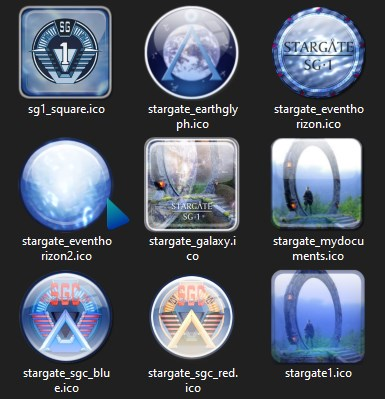 My Stargate SG-1 Folder Icons, Picture Version